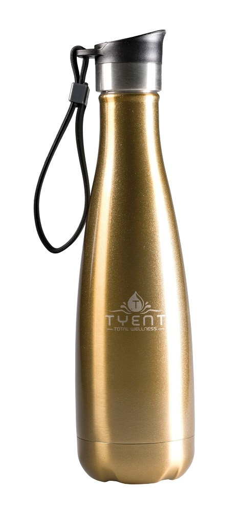 Tyent USA 750ml Gold Stainless Steel Water Bottle
