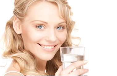 Girl with Alkaline Water